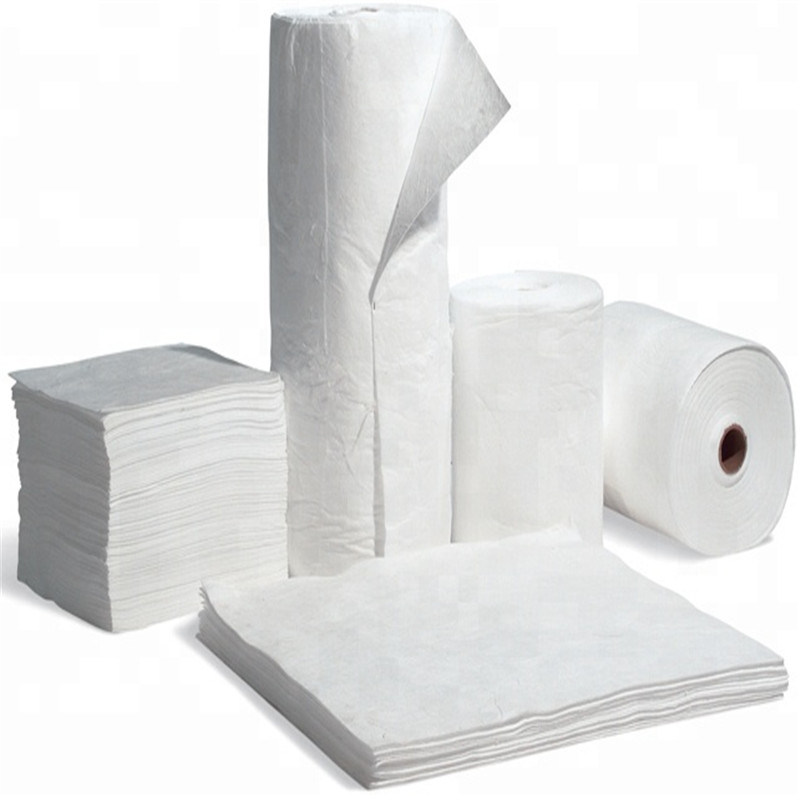 Industrial Felt Fabric 100% Pure Wool Oil Absorbent Felt with White Color