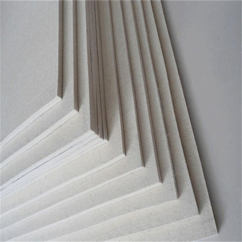 Wear Resistant with Natural White Color High Density Industrial Wool Felt