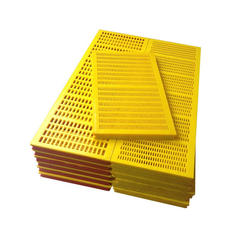 Yellow 30mm Thickness Polyurethane Screen Panel with 5mm Hole Size