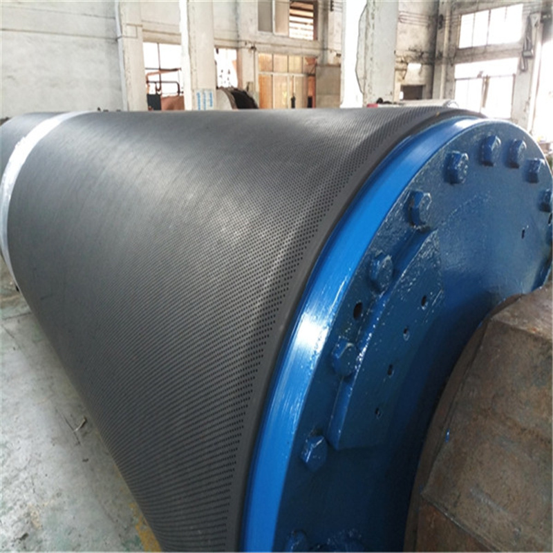 Rubber Coated Blind Drilled Press Roll for Paper Making