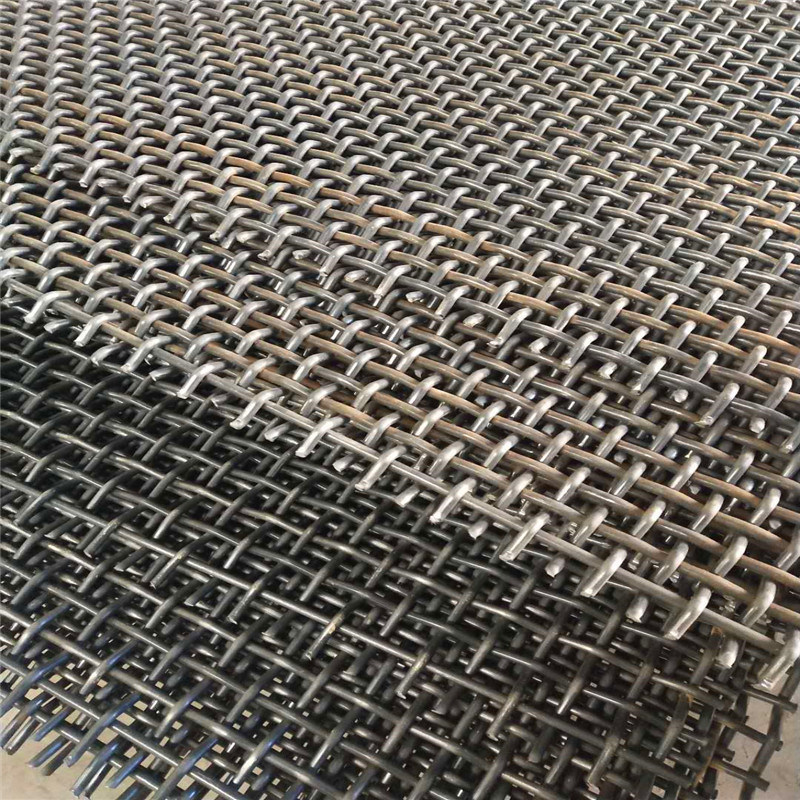 Maganese Steel Wire Woven Vibrating Screen Mat for Mining Separation