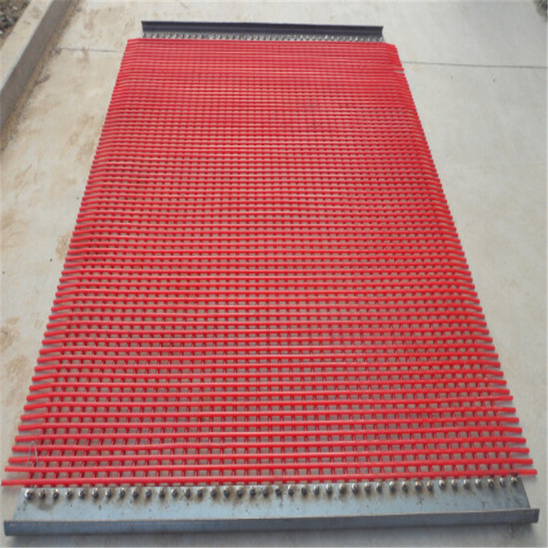 Rectangular PU Screen Mesh with Stainless Steel Wire for Separation